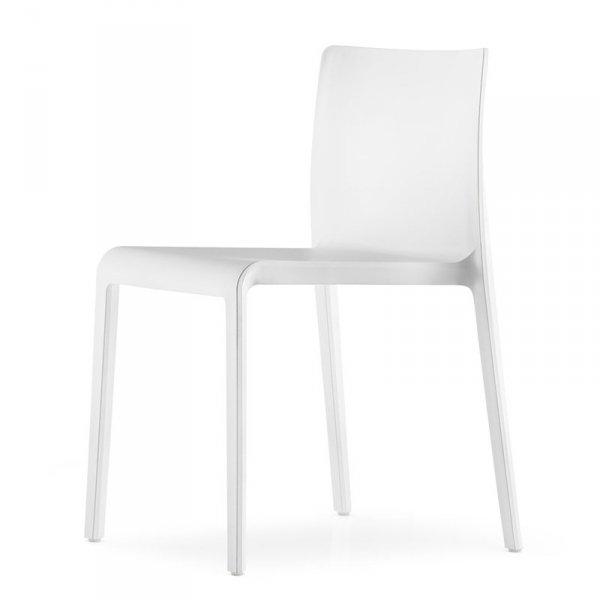 Krzesła z tworzywa do stylowych wnętrz Volt 670 białe