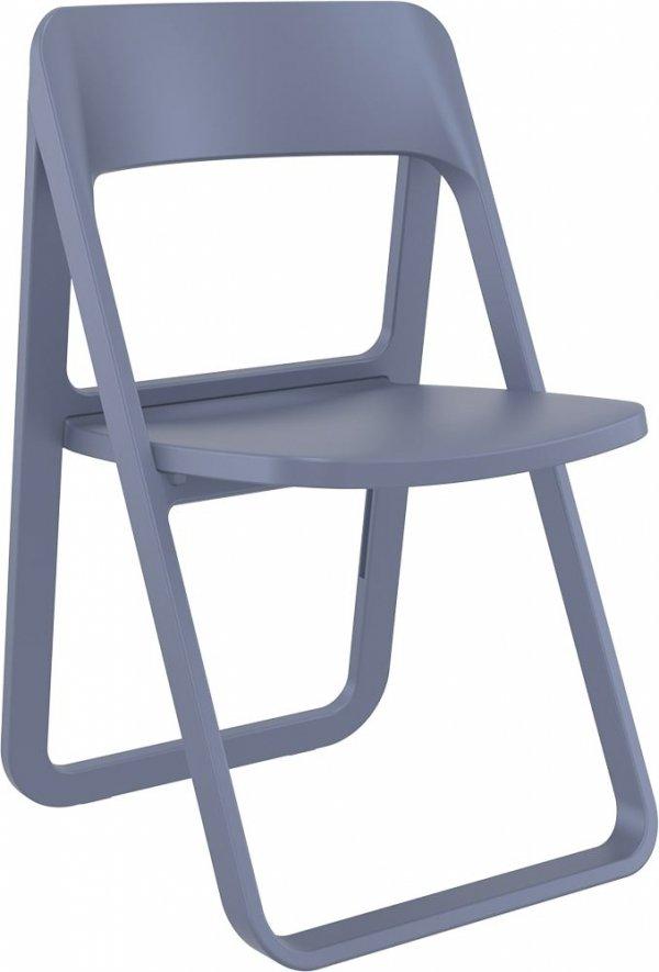 składane krzesło Dream Siesta ciemny szary