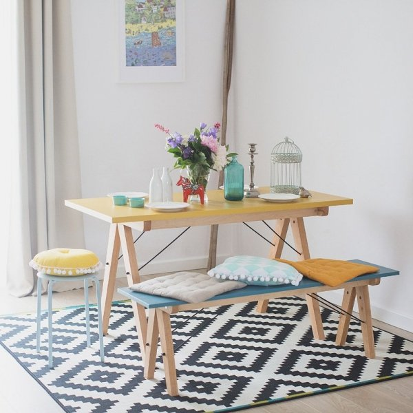 Stylowa ławka do kuchni i jadalni w stylu scandi