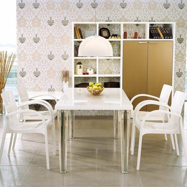 Designerskie krzesło z podłokietnikami do restauracji DejaVu