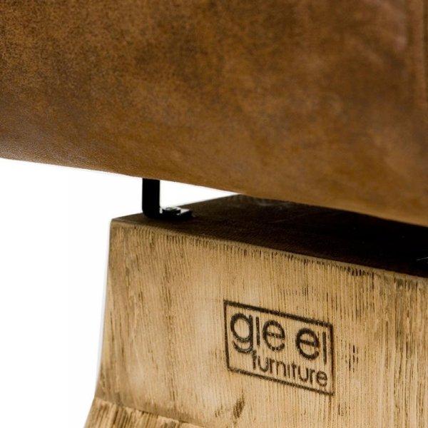 Stołek z oparciem brązowy Gie El