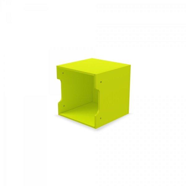 Regał Ścienny z kolorowymi pojemnikami Simple Timoore