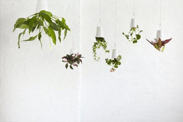 Boskke Sky Planter wisząca doniczka Ceramiczna Small Biała