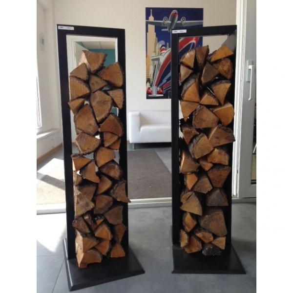 Stylowe metalowe stojaki na drewno