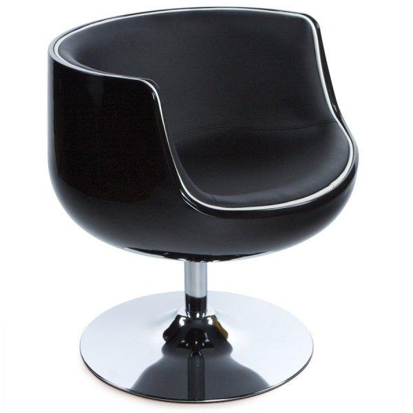 Fotel kubełkowy Harlow Czarny