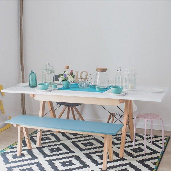 Stół Minko Basic można połączyć idealnie z ławą Minko