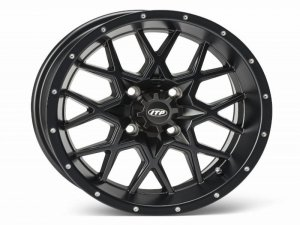 HURRICANE 12x7 4/137 5+2 1228633536B Matte Black