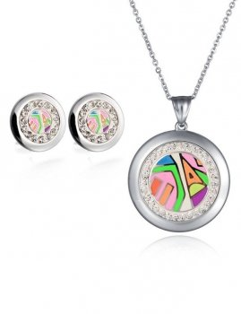 Set ladies earrings ladies necklace Estilo Sabroso ES05344