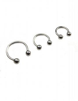 Men's piercing circular barbell screw on balls Estilo Sabroso Es02199