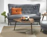 Pikowana sofa na wysokich nogach- Assenzio