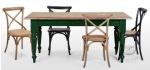 Stylizowany stół z dębowym blatem Scandi 170x90 cm