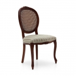 Drewniane krzesło z motywem roślinnym na ramie Rousseau