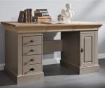 Masywne biurko z drewinianym blatem Amarant