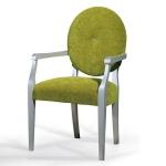 Nowoczesne lekkie krzesło z podłokietnikami Favola