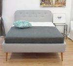 Stylizowane łóżko z guzikami na oparciu BERGAYA 160x200 cm