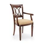 Drewniane tapicerowane krzesło Archetto