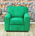 Zielony fotel retro fotel Riccardo
