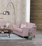 Pastelowa piękność dwuosobowa sofa Eddard