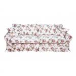 Angielska sofa rozkładana falbana luźny pokrowiec Christine 228 cm/FS
