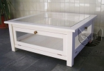 Biały stolik NO.03 Retro Scandinavia 70x70 cm
