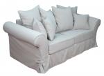 Wygodna sofa w stylu country chic Federica 190 cm