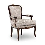 Fotel w stylu angielskiego dworu Luisa