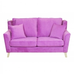Różowa sofa do salonu Portos 170 cm