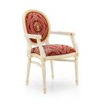 Stylizowane krzesło profilowane siedzisko Luigi