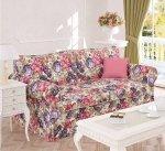 Szeroka kwiecista sofa z funkcją spania Marie 140x200 cm