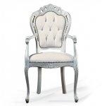 Rzeźbione krzesło z podłokietnikami Traforata