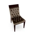 Pikowane profilowane krzesło drewniane Pisa