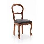 Bukowe krzesło siedzisko Eco skóra Bella