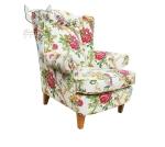Fotel w kwiaty w stylu skandynawskim Babciny fotel