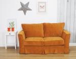 Sofa vintage w odcieniu pomarańczy Vivienne 170 cm rozkładana