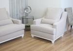 Jasny fotel w stylu retro Lukrecja