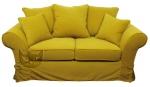 Nierozkładany fartuchowiec żółta tkanina plamoodporna Federica 170 cm