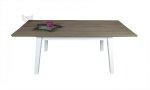 Stół z blatem fornirowanym drewnem dębowym 160x90 cm Francesco