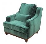 Zielony fotel retro Lukrecja