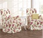 Zestaw dwóch foteli, wąskich z wysokim oparciem Marie