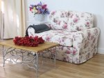 Sofa obicie w kwiaty piwonie Flower 166 cm/FS