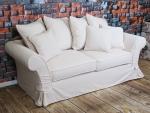 Meble wypoczynkowe do salonu kremowa sofa Federica 210 cm