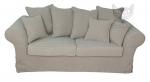 Trzyosobowa beżowa kanapa bez funkcji spania Federica 190 cm