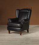 Klasyczny fotel Retro w skórze naturalnej-Babciny fotel