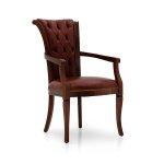 Pikowane oparcie krzesło stylizowane do salonu York