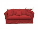 Czerwona sofa bez funkcji spania 190 cm zdejmowany pokrowiec- Vivienne