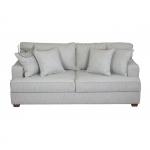 Szara kanapa nierozkładana retro sofy - Rene 190 cm