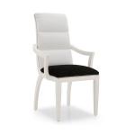 Białe krzesło profilowane oparcie Monica