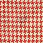 Tkaniny pepitka czerwona 17252 IMPERIA