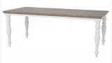 Stół w stylu ludwikowskim toczone nogi dębowy blat Clemenzo