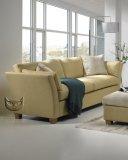 Sofa beżowa wygięte podłokietniki CARERA